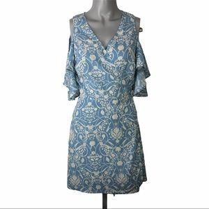 TOPSHOP wrap-around women's floral dress size 6